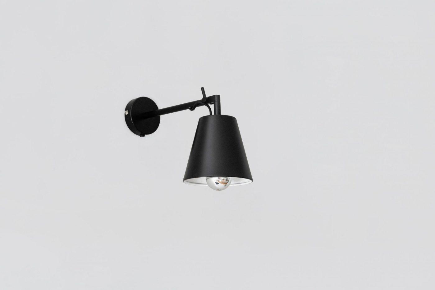 05 MYKILOS LEUCHTE LAMPE WAND STAHL STEEL BLACK SCHWARZ DESIGNER LAMP WALL WORK DESK KITCHEN KÜCHE 1 scaled