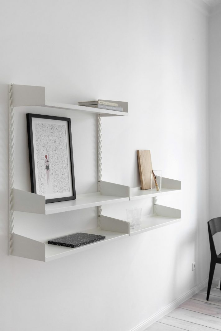Even Better Shelf set 2 + set 1 Extension for ultimate storage place and contemporary look - Fantastic Frank Furnished Apartment. Fantastic Frank x MYKILOS