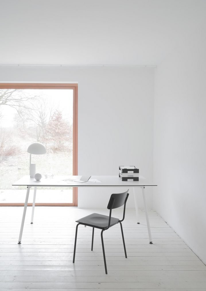Easy Table Square / Weisses Gestell