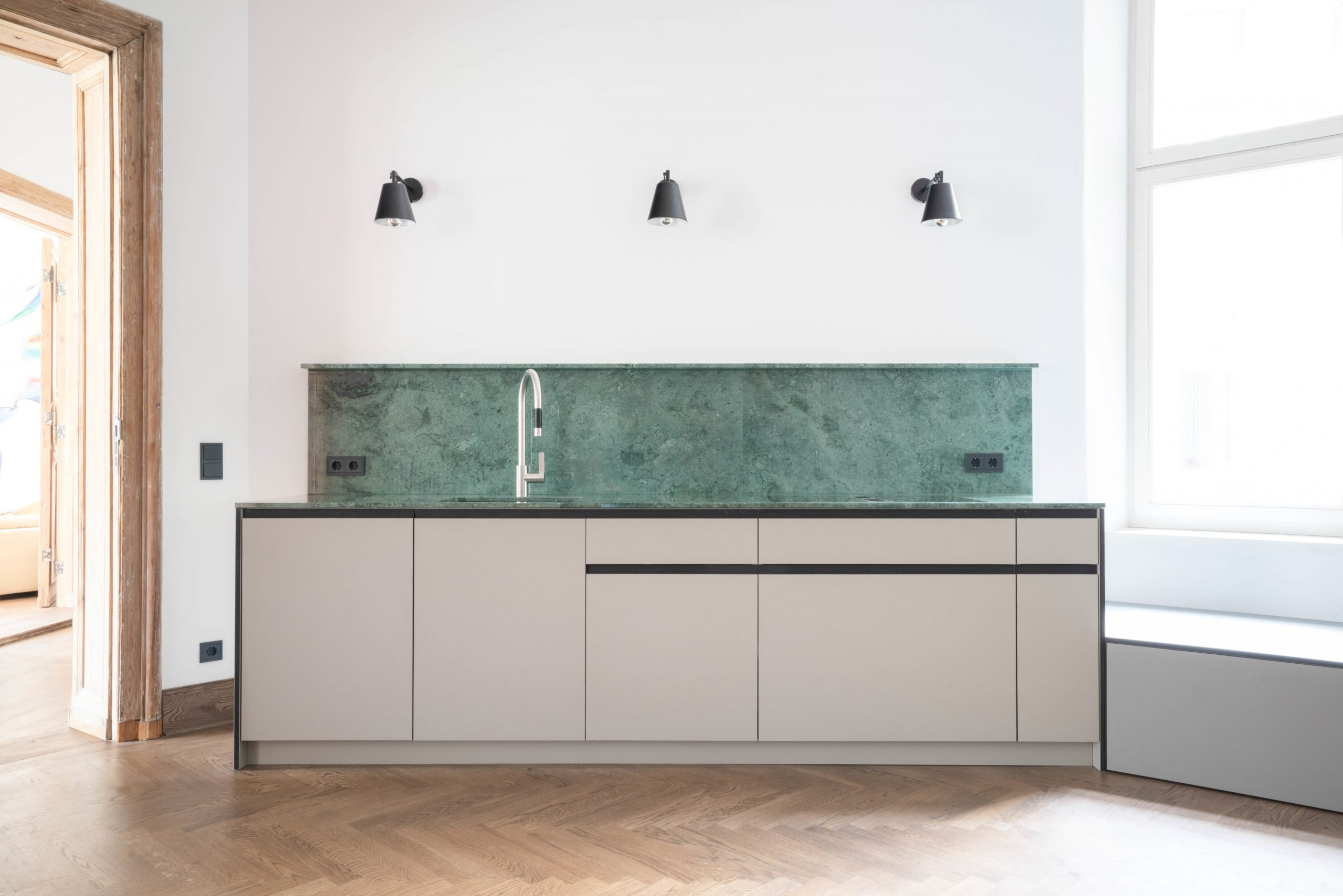 JMS Kitchen - Green Carrara marble counter top