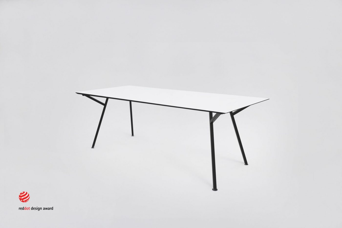 MY KILOS EGON TABLE WHITE BLACKWEB Red  dot scaled