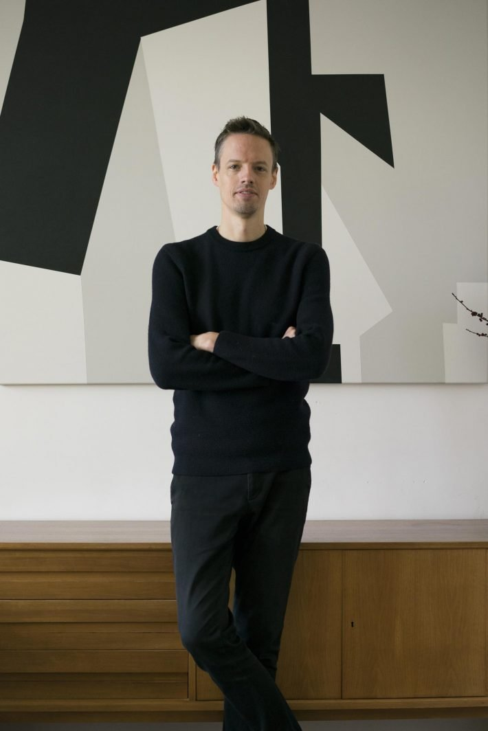 Sven Hausherr at his private residency in Berlin