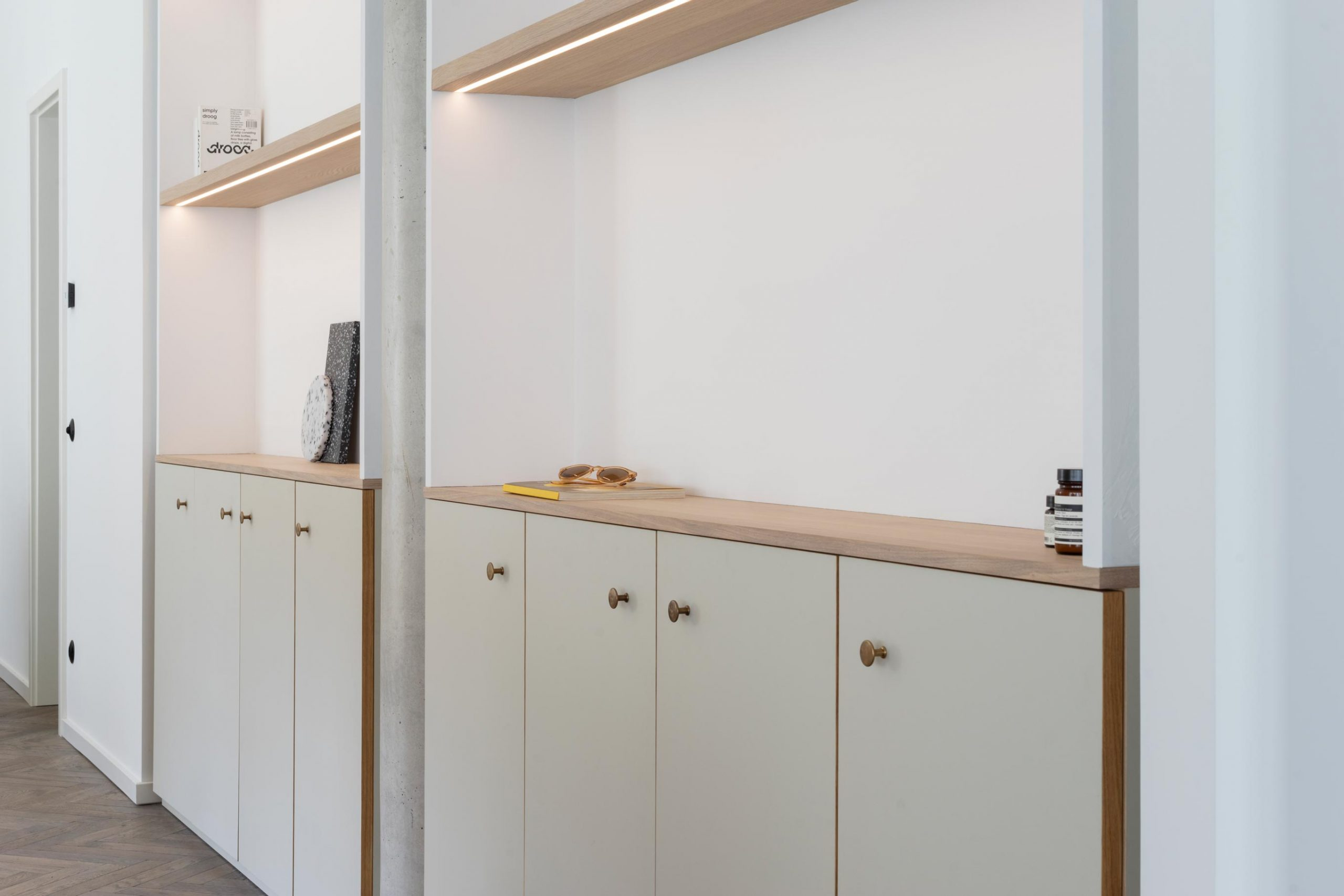 Cabinets with a smart-touch light switch